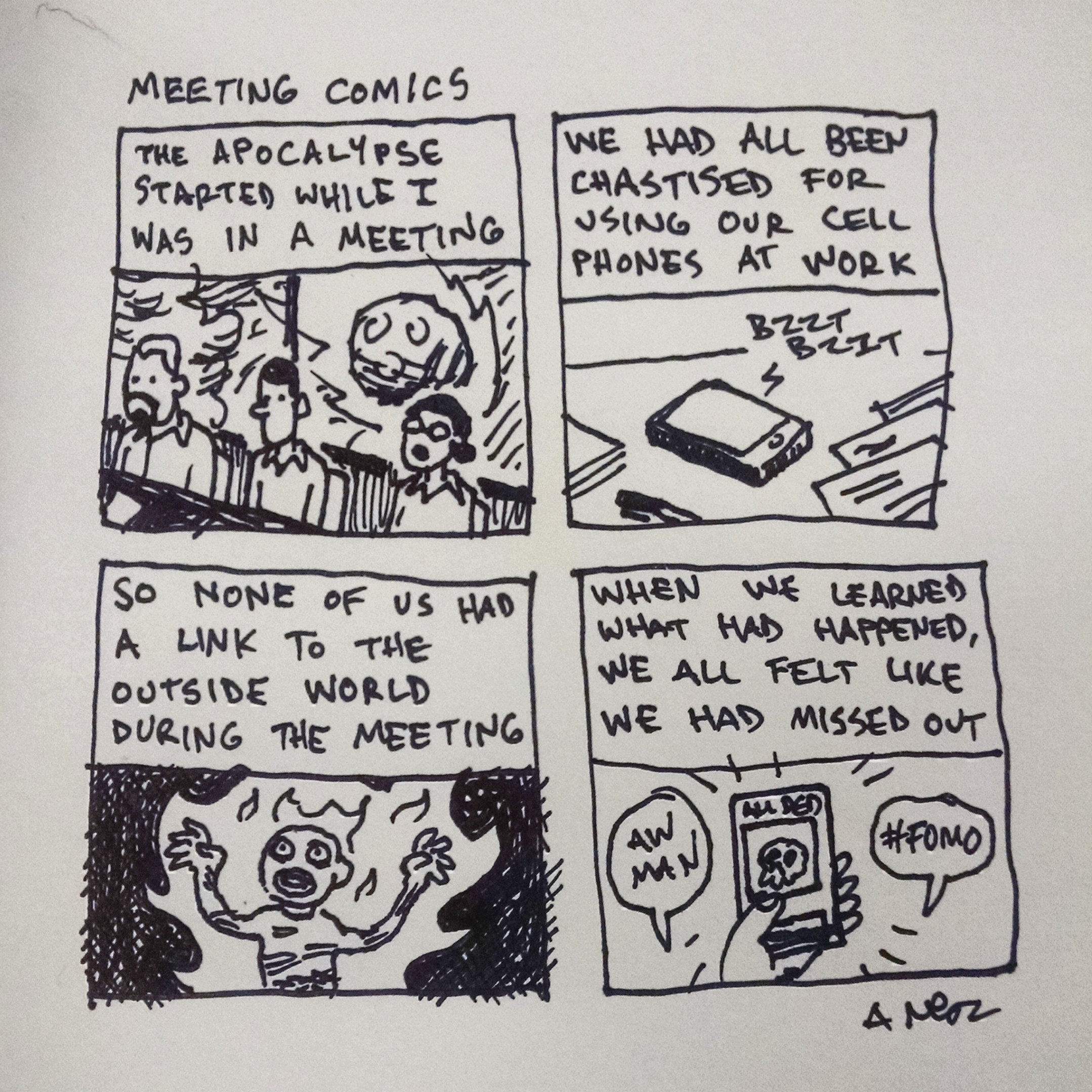 Meeting Comics from February 21, 2018.